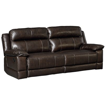 Rindham Sequoia Manual Motion Leather Reclining Sofa