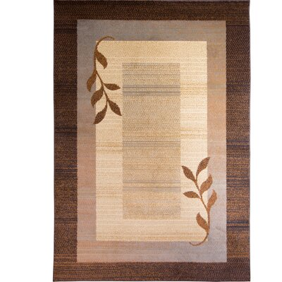 Eugenia Brown/Blue Area Rug Rug Size: 37 x 52