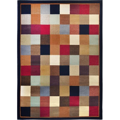 Eugenia Checked Area Rug Rug Size: Runner 19 x 72