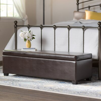 Leather Upholstered Storage Ottoman