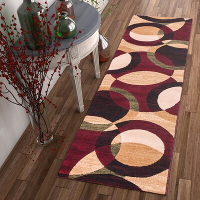 Chelsi Rings/Circles Area Rug Rug Size: Runner 2 x 73