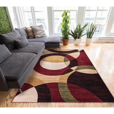 Chelsi Rings/Circles Area Rug Rug Size: 33 x 53