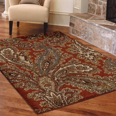 Bentley Red Area Rug Rug Size: 311 x 55