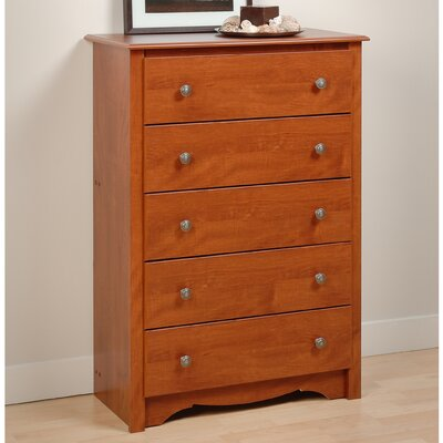 Sybil 5 Drawer Chest Finish: Cherry