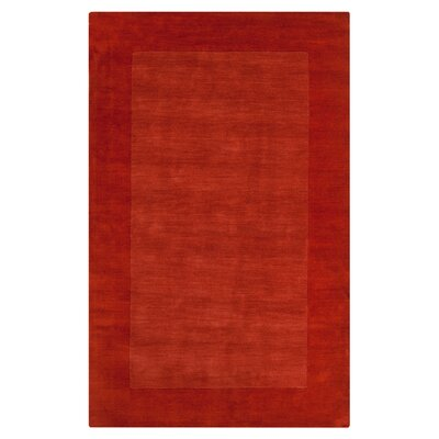 Bradley Red Orange Area Rug Rug Size: Square 6