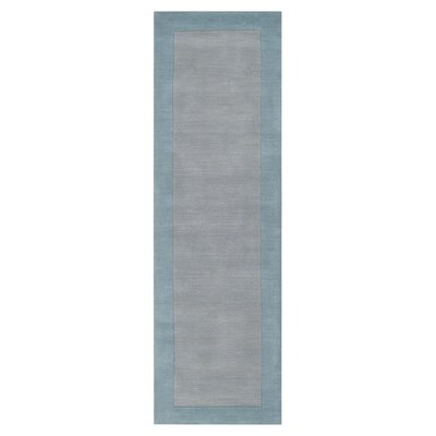 Bradley Hand Woven Silvered Gray Area Rug Rug Size: Runner 26 x 8