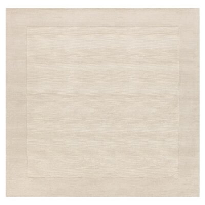 Bradley Hand Woven Winter White Area Rug Rug Size: Square 6