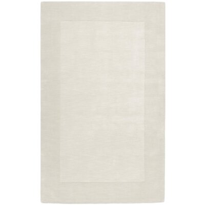 Bradley Hand Woven Winter White Area Rug Rug Size: Rectangle 5 x 8