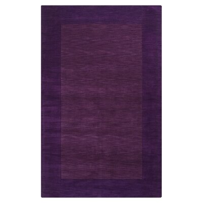 Bradley Hand Woven Dark Plum Area Rug Rug Size: Rectangle 76 x 96