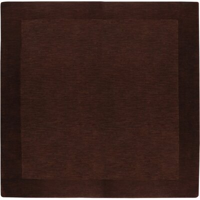 Bradley Chocolate Border Rug Rug Size: Square 6