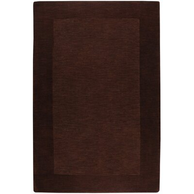 Bradley Chocolate Border Rug Rug Size: Rectangle 33 x 53
