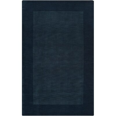 Bradley Hand Woven Navy Area Rug Rug Size: Rectangle 6 x 9