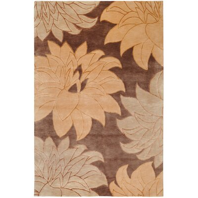 Luna Brown Floral Area Rug Rug Size: Rectangle 9 x 13