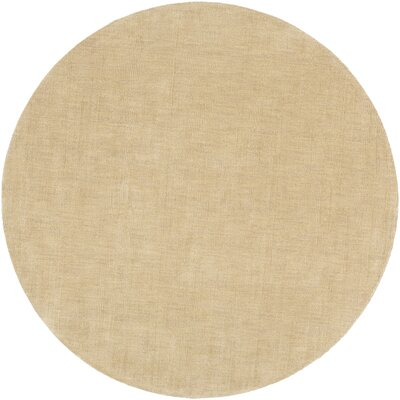 Naples Camel Area Rug Rug Size: Round 8