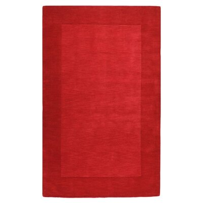 Bradley Machine Woven Red Area Rug Rug Size: 9 x 13