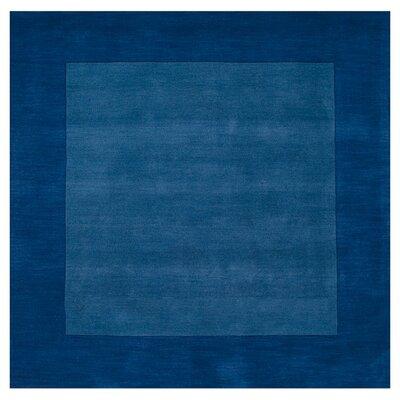 Bradley Blue Area Rug Rug Size: Square 8