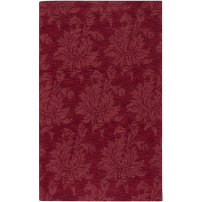 Bradley Ruby Red Area Rug Rug Size: 2 x 3