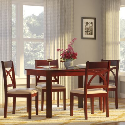 Abigail 5 Piece Dining Set Finish: Espresso