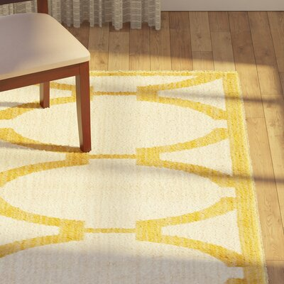 Amice Silk Yellow Area Rug Rug Size: Rectangle 2 x 3