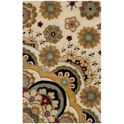 Armstrong Tufted  Ivory Rug Rug Size: Rectangle 6 x 9