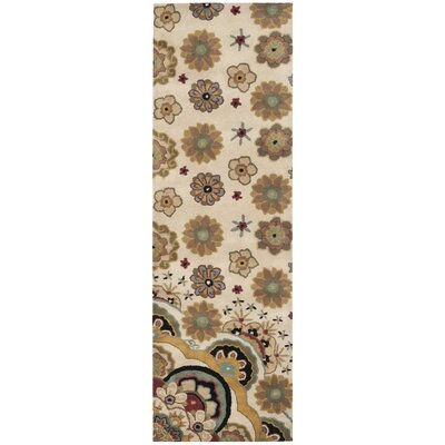 Armstrong Tufted  Ivory Rug Rug Size: Runner 26 x 8