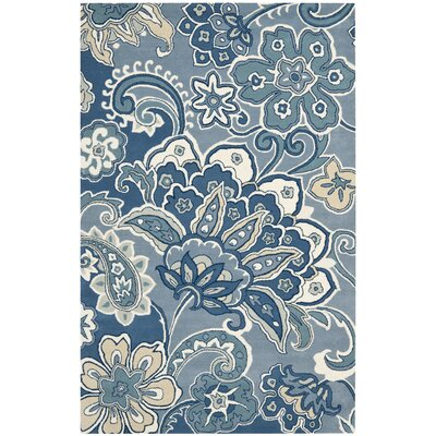 Armstrong Blue Rug Rug Size: 5 x 8