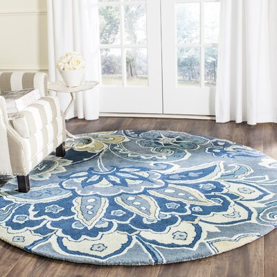 Armstrong Blue Rug Rug Size: Round 6