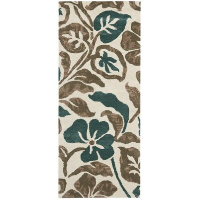 Armstrong Ivory Rug Rug Size: Runner 26 x 6