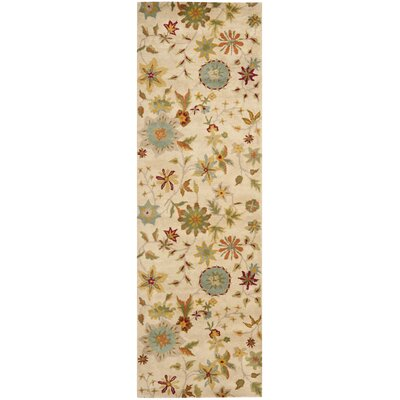 Armstrong Ivory / Sage Rug Rug Size: Runner 26 x 8