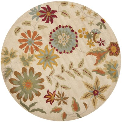 Armstrong Ivory / Sage Rug Rug Size: Round 6