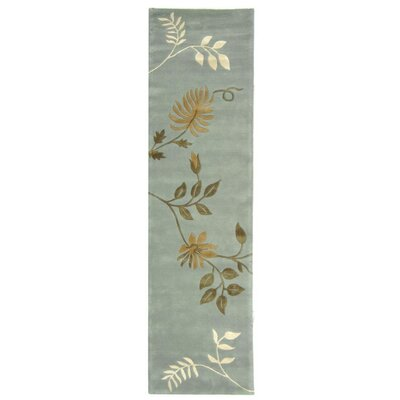 Armstrong Light Blue Rug Rug Size: Runner 26 x 16