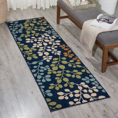 Brockenhurst Navy Indoor/Outdoor Area Rug Rug Size: Rectangle 23 x 76