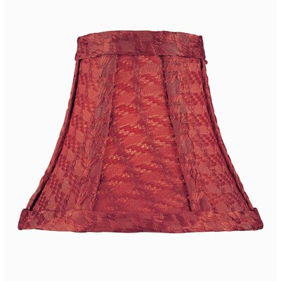 6 Fabric Bell Candelabra Shade Color: Red