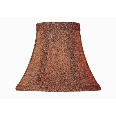 6 Brown Fabric Bell Candelabra Shade