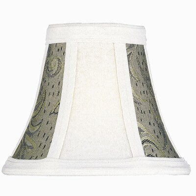 6 White/Black Jacquard Fabric Bell Candelabra Shade