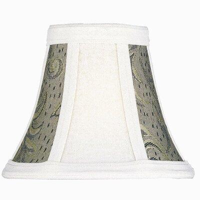 6 White/Black Jacquard Fabric Bell Candelabra Shade