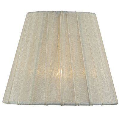 6 Fabric Empire Candelabra Shade Color: Cream