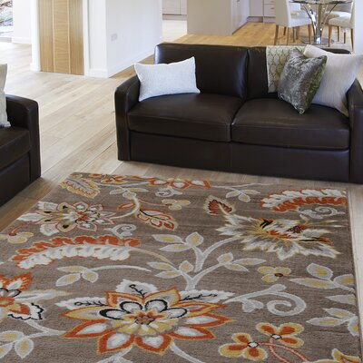 Selina Tufted Brown Area Rug Rug Size: 92 x 125