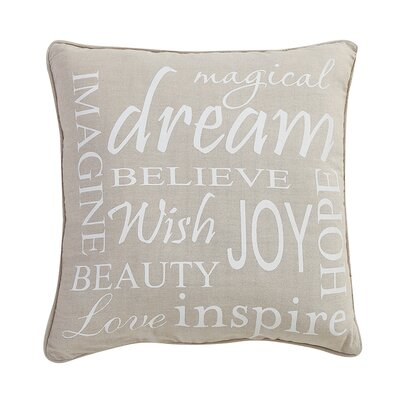 Shyla Inspire Word Decorative Cotton Throw Pillow