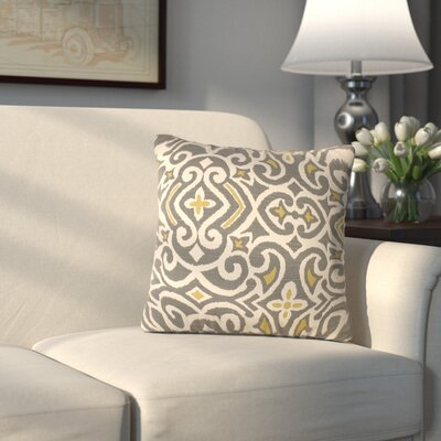 Ansonia Damask Throw Pillow