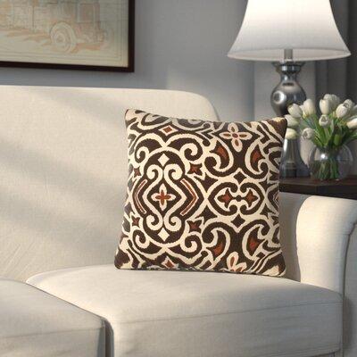 Ansonia Damask Throw Pillow Color: Terrain