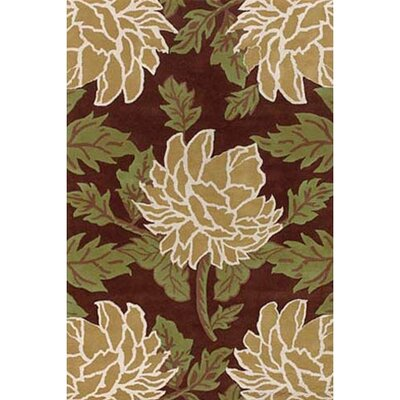 Bel Air Brown/Tan Area Rug Rug Size: 79 x 106