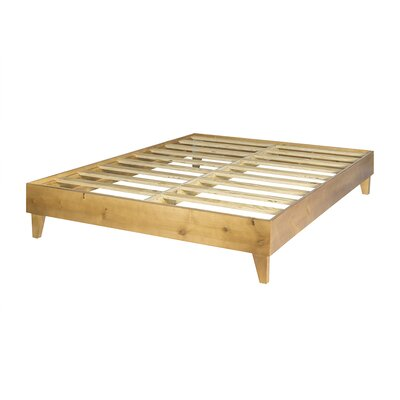 Templeton Exceptional Platform Bed Size: Full, Finish: Almond