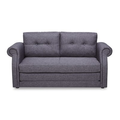 Rensselaer Sleeper Loveseat Upholstery: Dark Gray