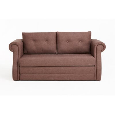 Rensselaer Sleeper Loveseat Color: Light Brown