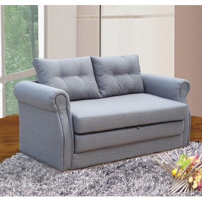 Rensselaer Sleeper Loveseat Upholstery: Gray