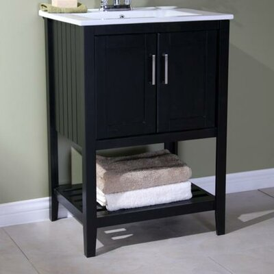 Reynal 24 Single Bathroom Vanity Set Base Finish: Dark Espresso