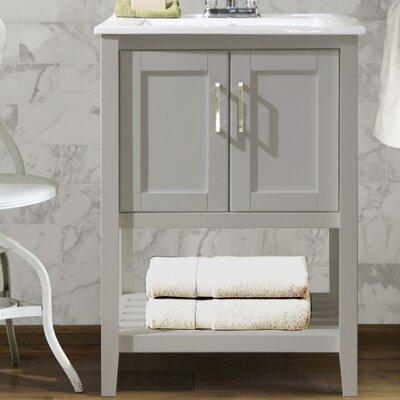 Reynal 24 Single Bathroom Vanity Set Base Finish: Gray