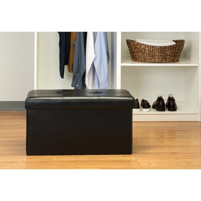 Ridgedale Double Folding Storage Ottoman Upholstery: Black