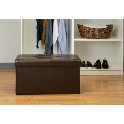 Ridgedale Double Folding Storage Ottoman Upholstery: Chocolate
